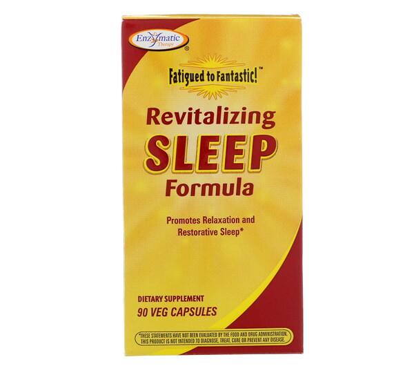 Fatigued to Fantastic!, восстанавливающая формула для сна, 90 вегетарианских капсул