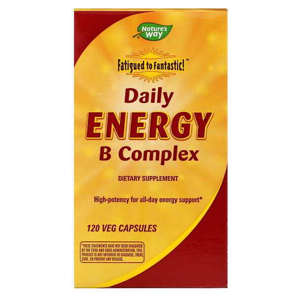 Fatigued to Fantastic!, Daily Energy B Complex, 120 Veg Capsules