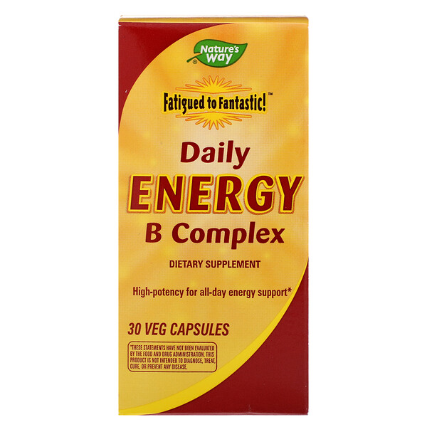 Fatigued to Fantastic! Daily Energy B Complex, 30 Veg Capsules