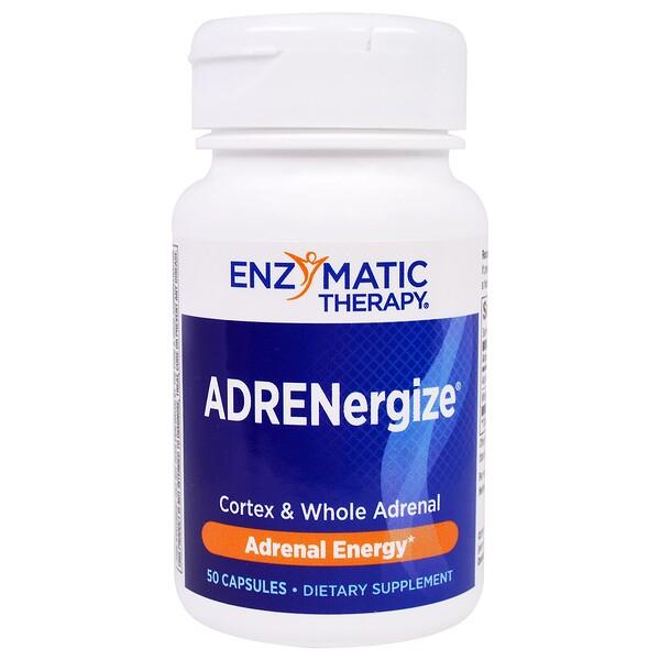 Enzymatic Therapy, ADRENergize, энергия надпочечников, 50 капсул