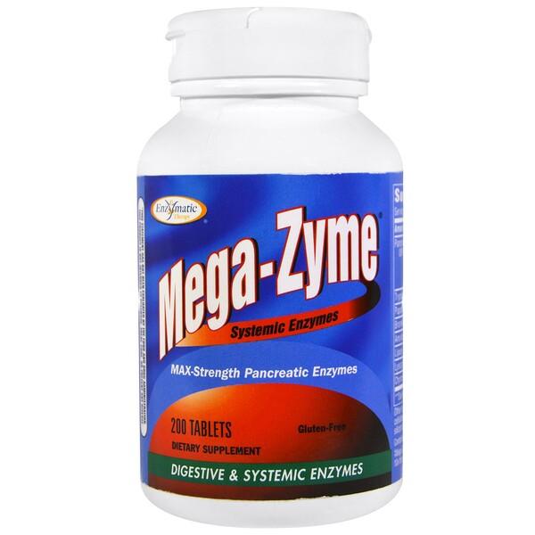 Mega-Zyme, системные ферменты, 200 таблеток