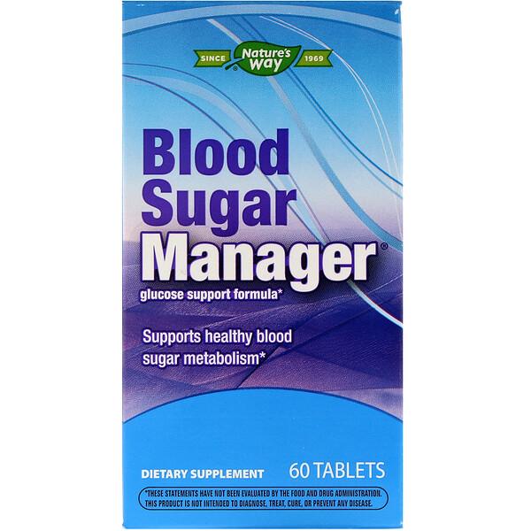 Blood Sugar Manager, регулятор уровня сахара в крови, 60 таблеток