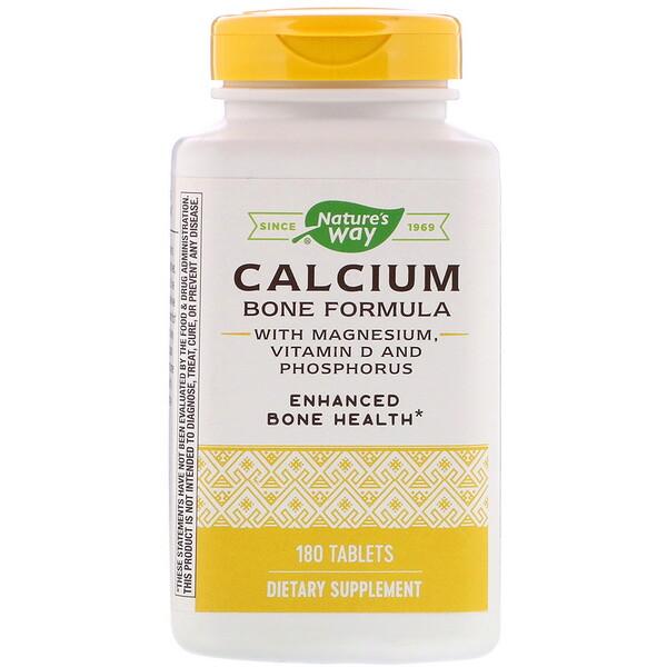 Calcium Bone Formula with Magnesium, Vitamin D and Phosphorus, 180 Tablets