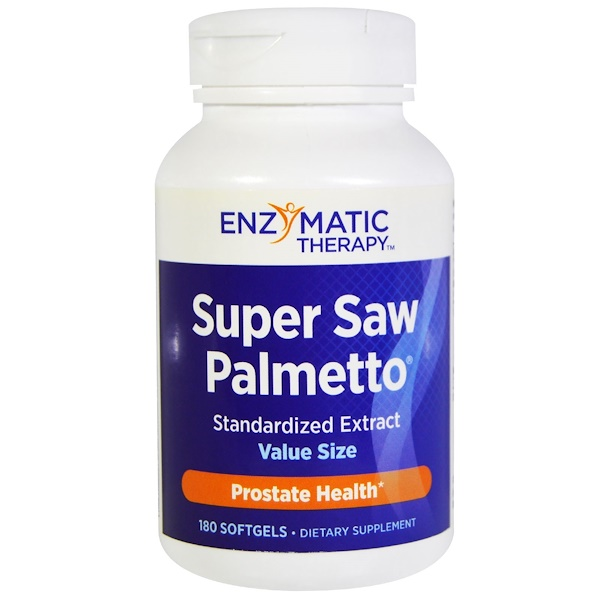 Enzymatic Therapy, «Супер пальма сереноа», стандартизированный экстракт, 180 капсул (Discontinued Item)