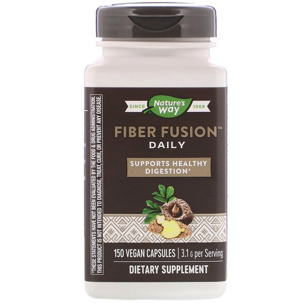Nature's Way, Fiber Fusion Daily, 3.1 g, 150 Vegan Capsules