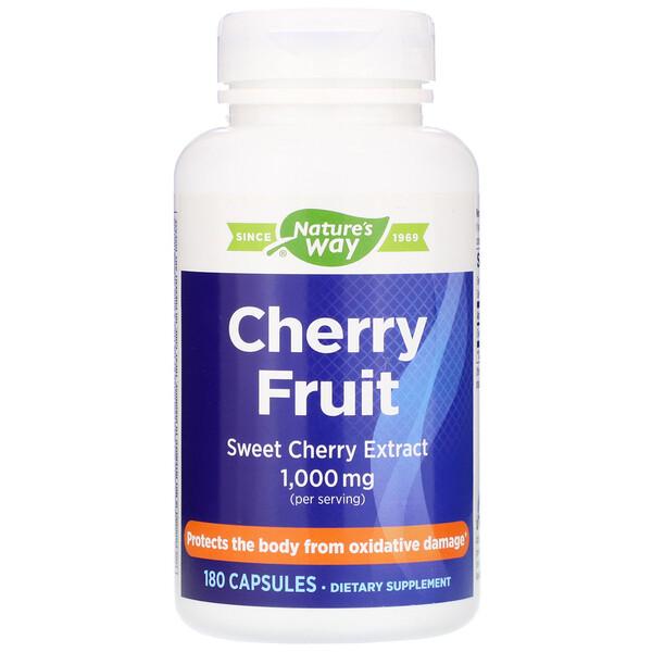 Cherry Fruit, экстракт черешни, 1000 мг, 180 капсул
