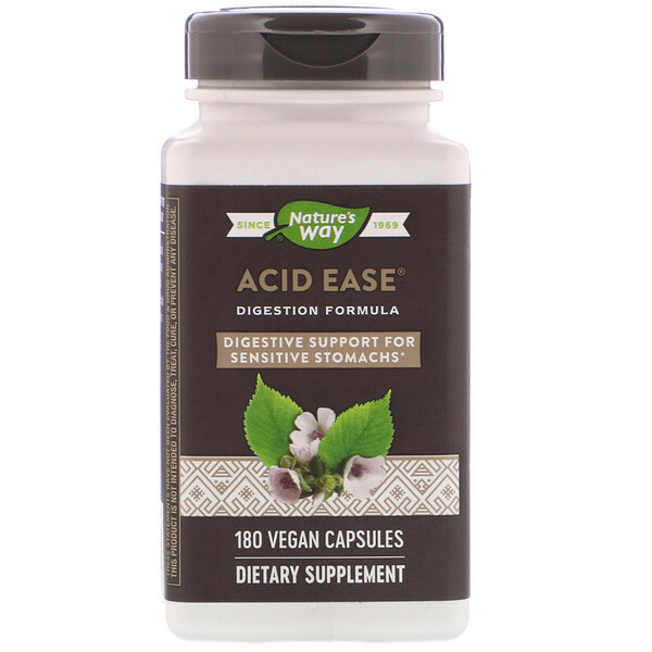 Acid Ease, Digestion Formula, 180 Vegan Capsules