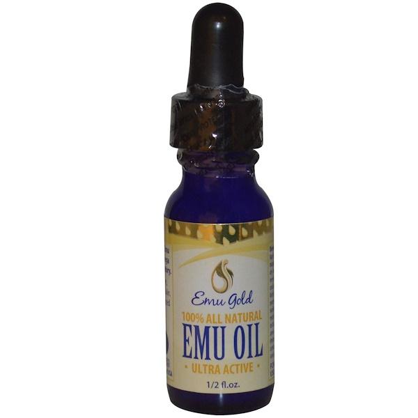Emu Gold, 100% натуральное масло эму, 1/2 жидких унций (Discontinued Item)