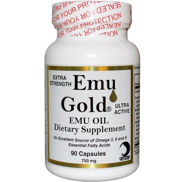 Emu Gold, Emu Gold Масло Эму, Дополнительного Действия 90 капсул (Discontinued Item)