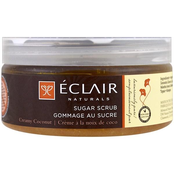 Eclair Naturals, Сахарный скраб, сливочный кокос, 9 унций (255 г) (Discontinued Item)