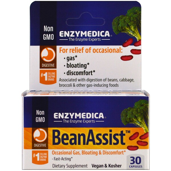 Enzymedica, BeanAssist, 30 капсул