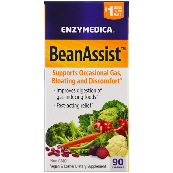Enzymedica, BeanAssist, 90 капсул (Discontinued Item)
