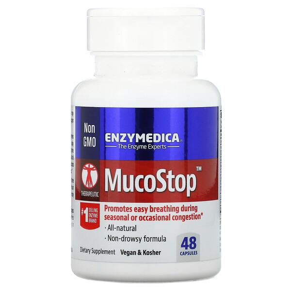 Enzymedica, MucoStop, 48 капсул