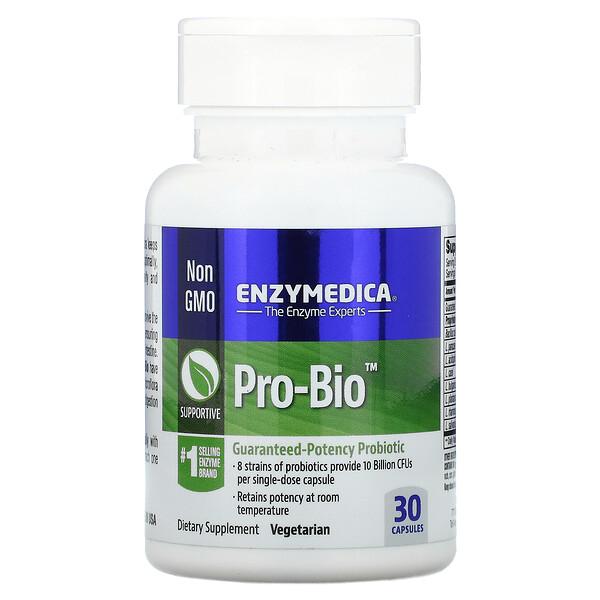 Enzymedica, Pro Bio, пробиотик с гарантированной эффективностью, 30 капсул