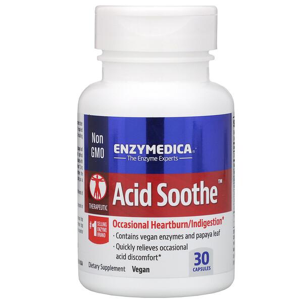 Enzymedica, Acid Soothe, 30 Capsules