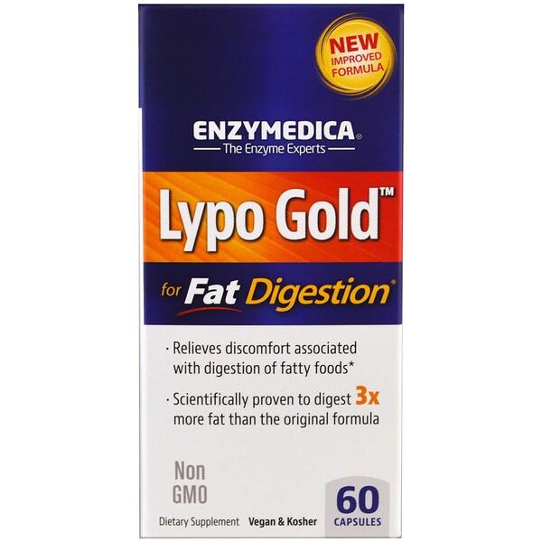 Lypo Gold, для усвоения жиров, 60 капсул