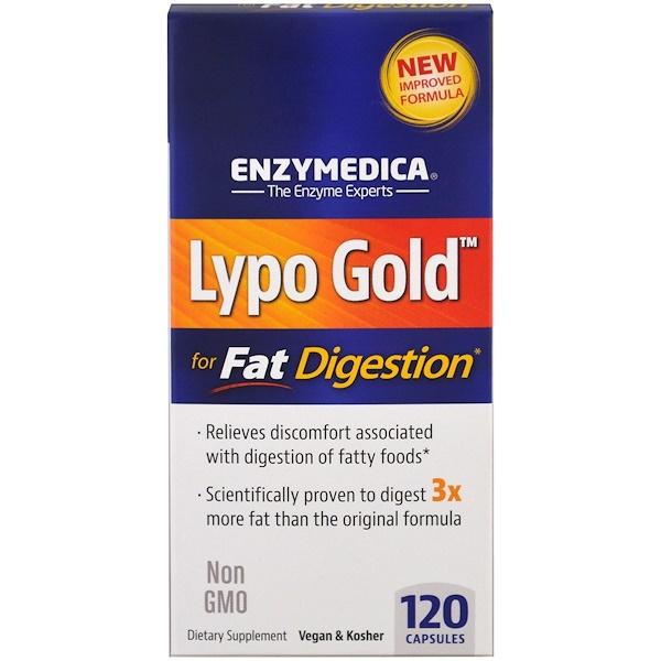 Lypo Gold, оптимизация усвоения жиров, 120 капсул