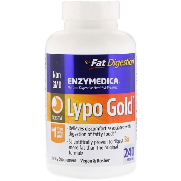 Lypo Gold, препарат для пищеварения, 240 капсул