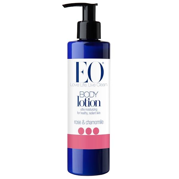 EO Products, Лосьон для тела, роза и ромашка, 236 мл (8 жидких унций)