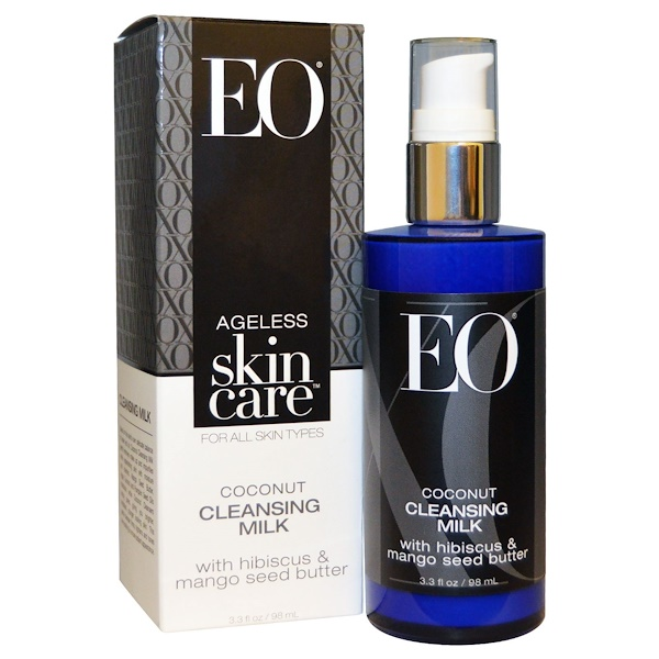 EO Products, Ageless Skin Care, Coconut Cleansing Milk, 3.3 fl oz (98 ml) (Discontinued Item)