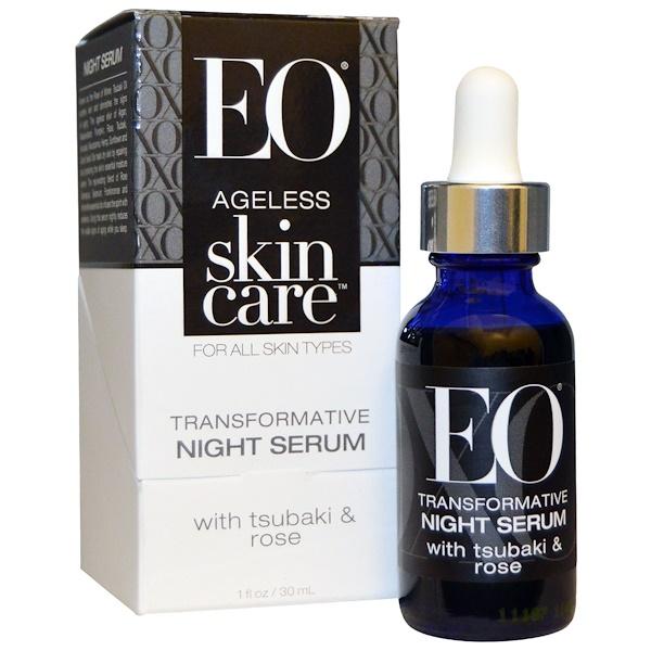 EO Products, Антивозрастной Уход за Кожей, Трансформирующая ночная сыворотка, 1 унция (30 мл) (Discontinued Item)
