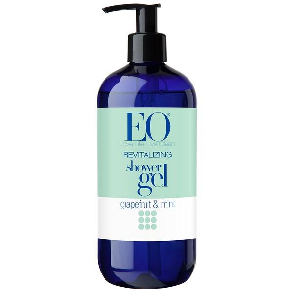 EO Products, Гель для душа, восстанавливающий эффект, грейпфрут и мята, 473 мл (16 жидких унций)