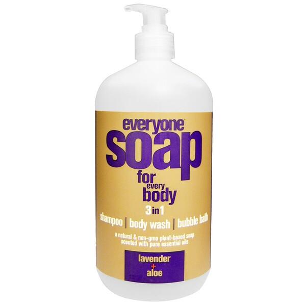 EO Products, Everyone Soap for Every Body, мыло 3 в 1, лаванда и алоэ, 946 мл (32 жидких унции) (Discontinued Item)
