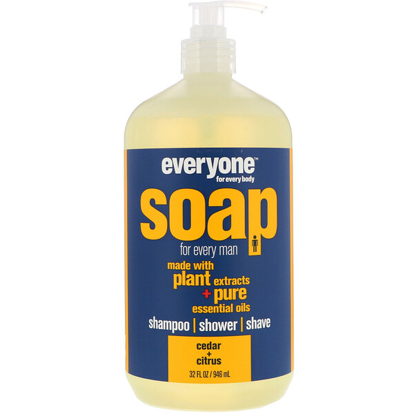 EO Products, Жидкое мыло Everyone Soap for Every Man, Кедр + цитрус, 32 fl oz (960 мл) (Discontinued Item)