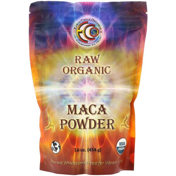 Earth Circle Organics, сырой органический порошок маки, 454 г (16 унций)