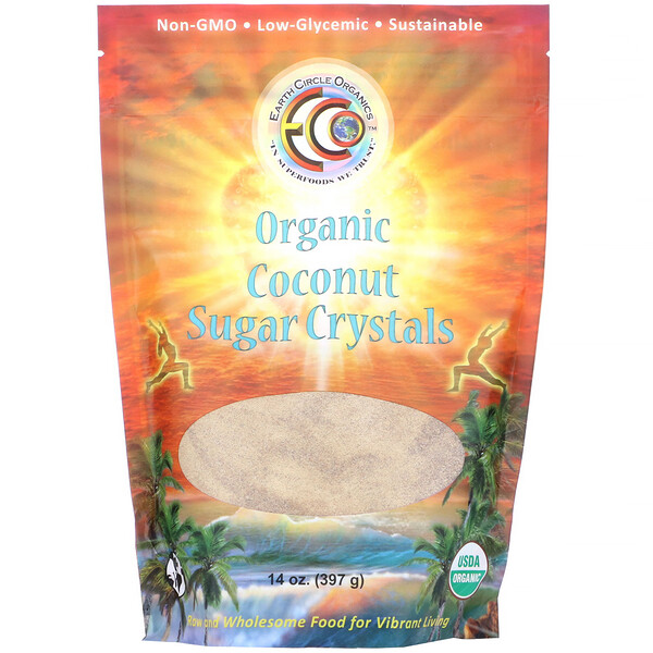 Organic Coconut Sugar Crystals, 14 oz (397 g)
