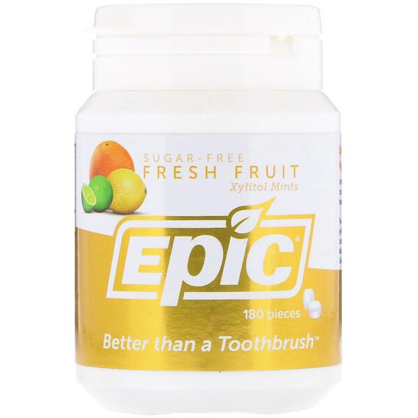 Подслащенные 100%-ным ксилитом мятные таблетки со вкусом свежих фруктами, 180 шт.