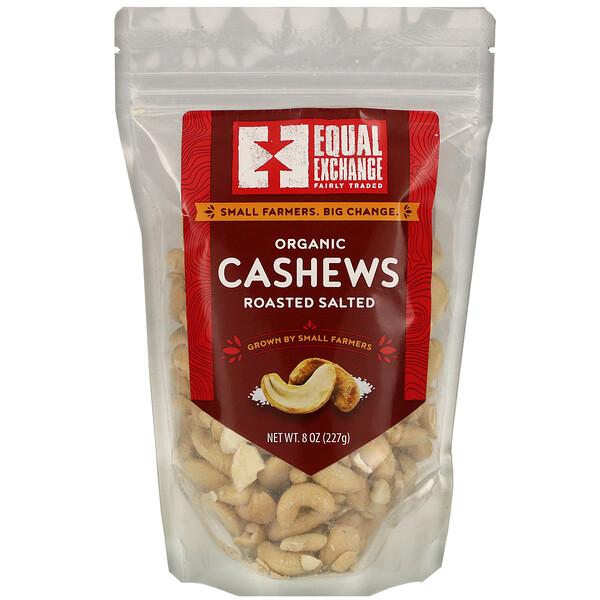 Organic Roasted Salted Cashews, 8 oz (227 g)