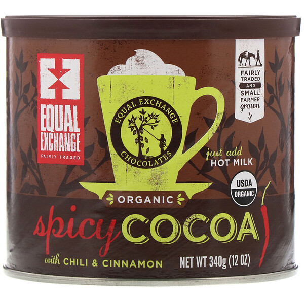 Equal Exchange, Organic Spicy Cocoa with Chili & Cinnamon, 12 oz (340 g)