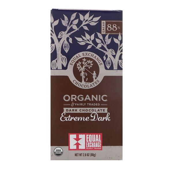 Equal Exchange, органический темный шоколад, экстрачерный, 88% какао, 80г (2,8унции)