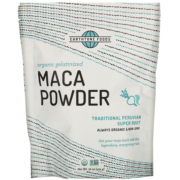 Earthtone Foods, Organic Gelatinized Maca Powder, 16 oz (454 g)