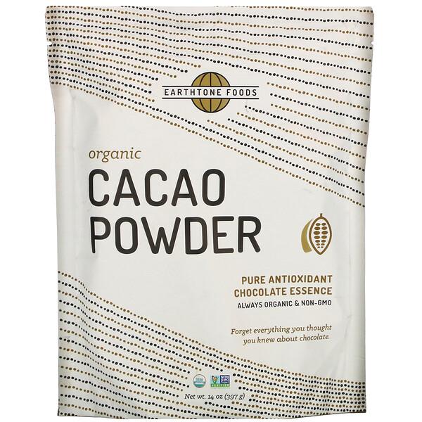 Earthtone Foods, Organic Cacao Powder, 14 oz (397 g)