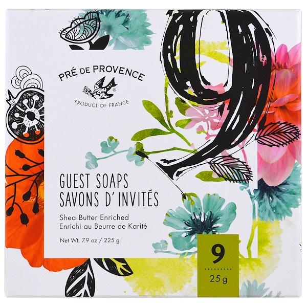 European Soaps, Мыло для гостей в ассорти, подарочная упаковка с 9 видами, 25 г каждый (Discontinued Item)