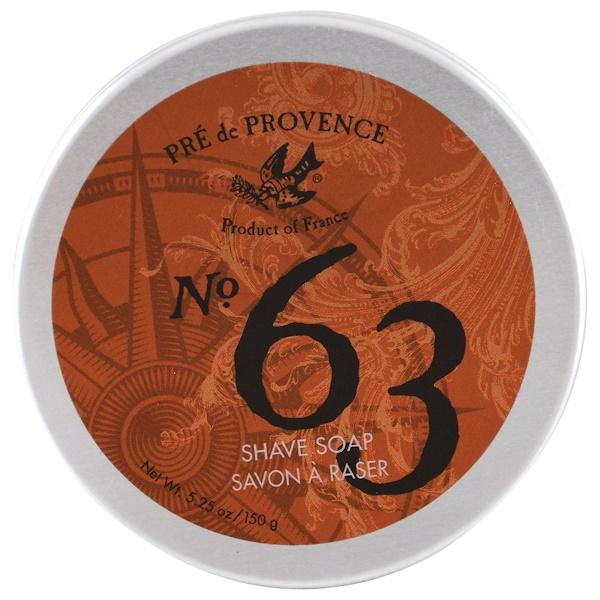 European Soaps, Pre de Provence, мыло для бритья № 63, 5,25 унции (150 г) (Discontinued Item)