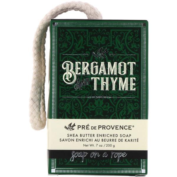 Pre de Provence, мыло на веревке, бергамот и тимьян, 7 унций (200 г)