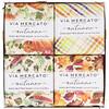 European Soaps, Via Mercato, Autumno, набор мыла с маслом ши, 4 вида мыла, 50 г каждый