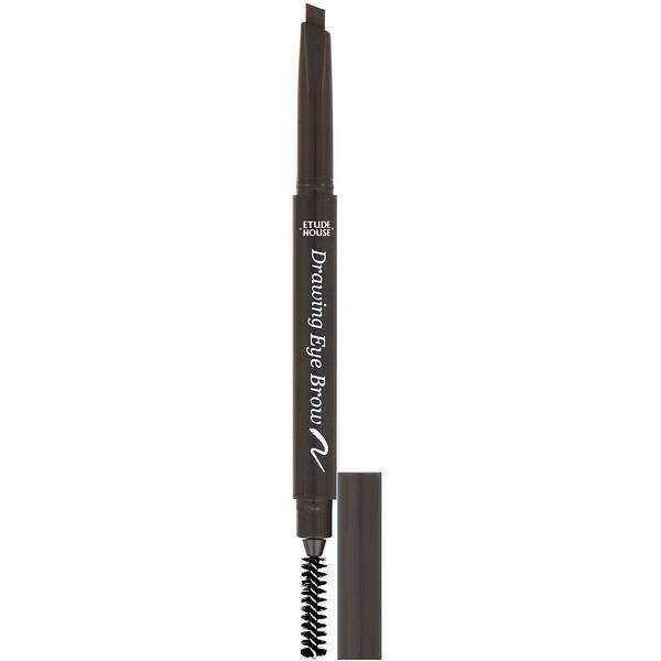 Etude House, Drawing Eye Brow, серо-коричневый № 02, 1 карандаш