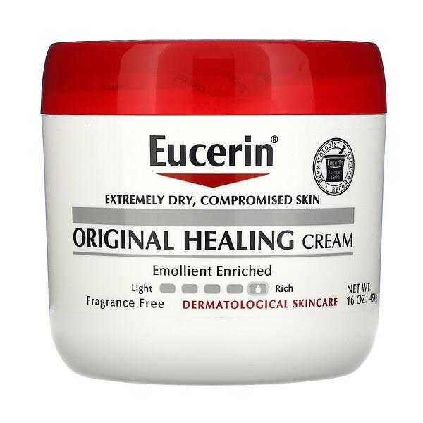 Eucerin, Оригинальный заживляющий крем для очень сухой и поврежденной кожи, без отдушек, 454г (16унций)