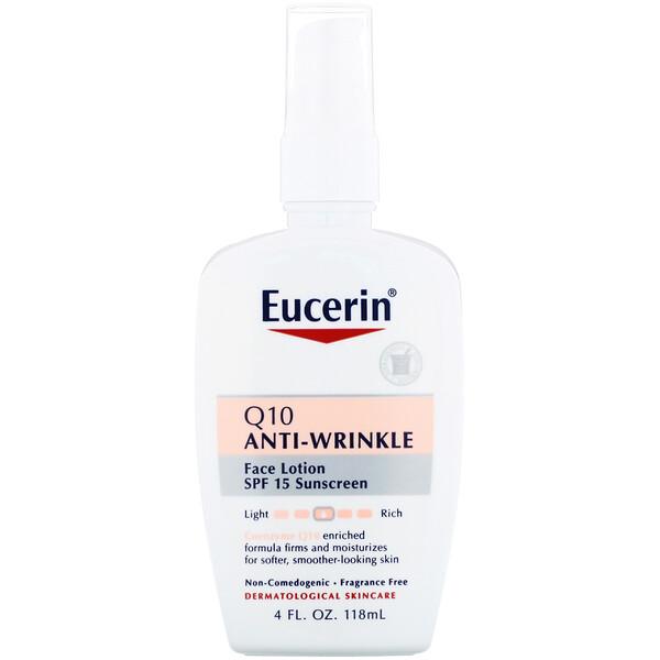 Лосьон Q10 против морщин для чувствительной кожи, солнцезащитное средство SPF 15, 118 мл (4 жидких унции)