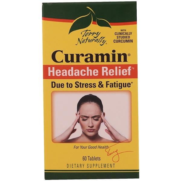 Terry Naturally, Курамин, средство от головной боли, 60 таблеток (Discontinued Item)