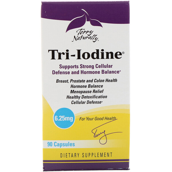 Terry Naturally, Tri-Iodine, 6,25 мг, 90 капсул