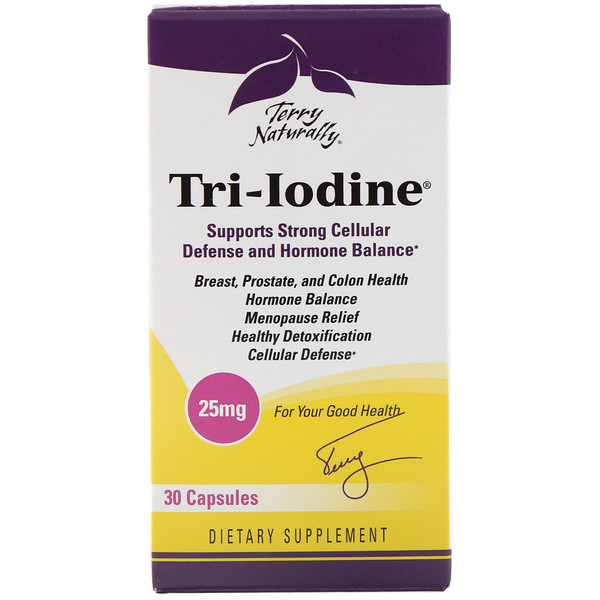 Terry Naturally, Terry Naturally, Tri-Iodine, 25 мг, 30 капсул (Discontinued Item)