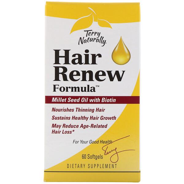 Terry Naturally, Hair Renew Formula, формула восстановления волос, 60 желатиновых капсул