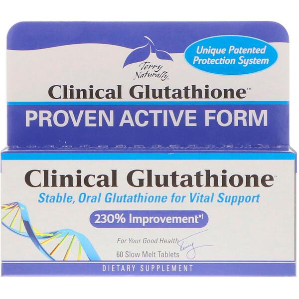 EuroPharma, Terry Naturally, Clinical Glutathione, 60 медленно растворяемых таблеток