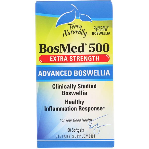 Terry Naturally, BosMed 500, усиленного действия, босвеллия повышенной эффективности, 500 мг, 60 мягких таблеток