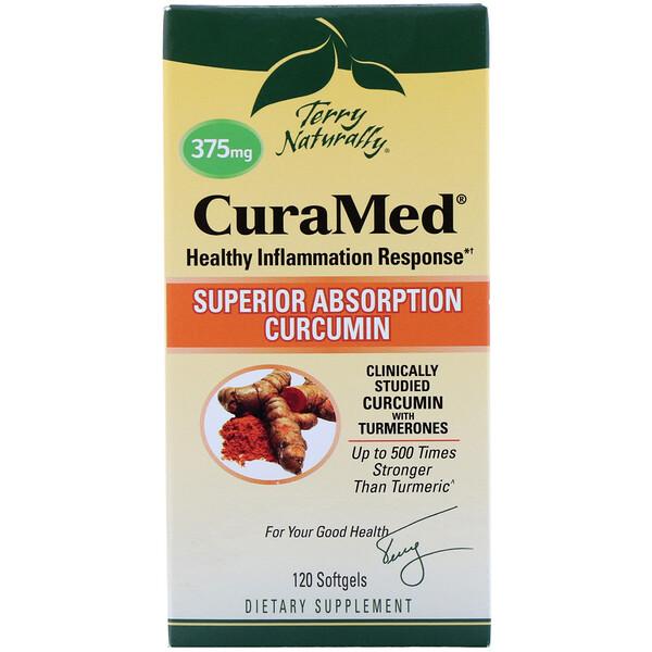 Terry Naturally, CuraMed, 375 мг, 120 мягких желатиновых капсул